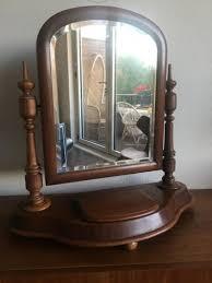antique biedermeier vanity mirror for