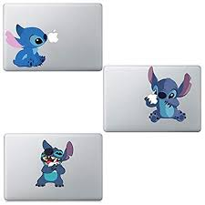 3 Pack Colourful Funny Cute Disney Stitch Sticker Viny Decal For Apple Macbook Air Pro Retina 13 Wantitall