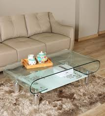 zee tempered glass coffee table by