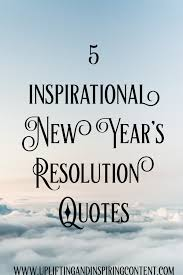 resolutions are good to be made in order to replace the old habits