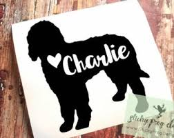 Golden Doodle Decal Etsy
