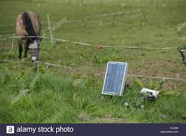 Solar Powered Electric Fence High Resolution Stock Photography And Images Alamy