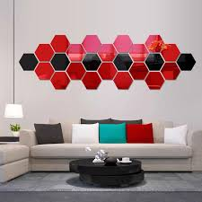3d Mirror Hexagon Vinyl Removable Wall Sticker Decal Home Room Decor Art Wall Stickers Letters Wall Stickers Love From Designerwallet1 0 1 Dhgate Com