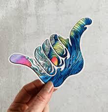 The Wave Shaka Sticker Stephanie Kiker Designs