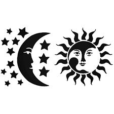 Sun Moon Stars Vinyl Decal Sticker