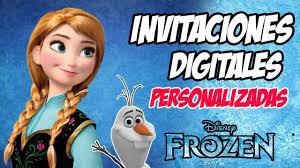 Videoinvitacion Invitaciones Digitales Personalizadas Frozen