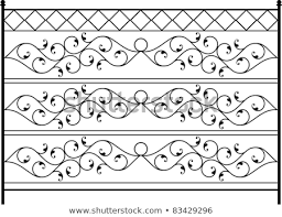 Vector Images Illustrations And Cliparts Wrought Iron Gate Door Fence Window Grill Railing Design Hqvectors Com