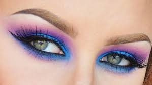 neon eye makeup video tutorial
