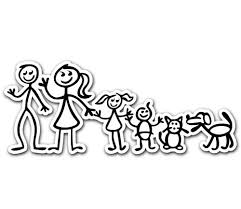 Bumper Stickers For Cars Family Mom Dad Son Daughter Cat Dog Car Bumper Decal Sticker 7 X3