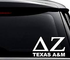 Amazon Com Delta Zeta Texas A M Greek Sorority Decal Sticker For Use On Laptop Helmet Car Truck Motorcycle Windows Bumper Wall And Decor Size 15 Inch 38 Cm Wide Color Matte