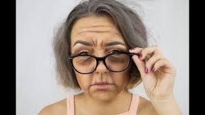 old lady makeup look mini tutorial