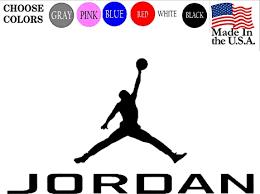 Michael Air Jordan Logo Nike Basketball Vinyl Car Window Room Wall Decal Sticker