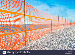 Plastic Safety Barrier High Resolution Stock Photography And Images Alamy