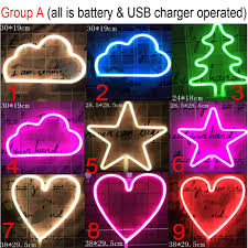 Clover Led Neon Sign Night Lights Lamps Art Decor Light Up Signs Table Lights Decorative For Home Party Living Room Tools Home Improvement Lighting Ceiling Fans