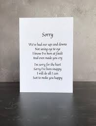 personalised apology card after an argument card to say sorry