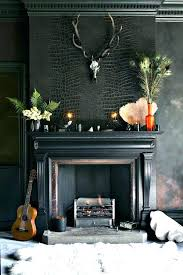 marble fireplace surround black paint