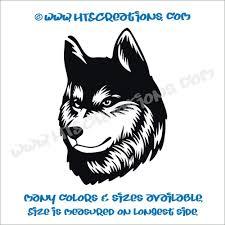 Dog Breed Alaskan Husky Vinyl Car Decal Sticker Animal Lover Rescue Canine