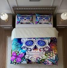 sugar skull bedding duvet cover