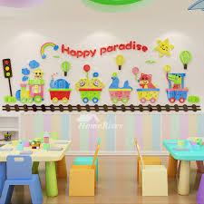3d Vinyl Wall Decor Stickers For Kids Home Decor Cartoon Nursery School Classroom Acrylic Bedrooms Living