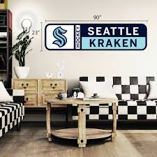 Seattle Kraken 90x23 Team Repositional Wall Decal Design 56 Hhofecomm