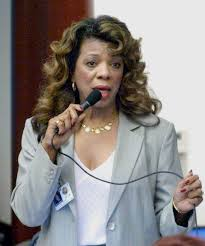 Florida Memory • Florida State Representative Priscilla Taylor, D-Riviera  Beach, promoting a measure during debate on the House floor in Tallahassee,  Florida