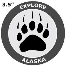 Alaska Bear Claw Paw Print 3 5 Car Truck Window Bumper Graphics Vinyl Sticker Decal Nature Fishing Hiking Trails Wildlife Bears Wolves Deer Mountains National Parks Walmart Com Walmart Com