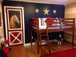 Cool Western Theme Boys Bedroom With Horse Wall Murals In The Door Vintage Boys Bedrooms Horse Themed Bedrooms Toddler Boys Room