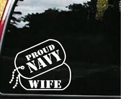 Navy Wife Dog Tags Military Window Decal Stickers Custom Sticker Shop