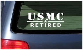 Usmc Retired White Vinyl Decal Sticker Window Marine Corps Usa Wish
