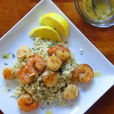 Shrimp, Scallops & Dill Rice with Lemon ...