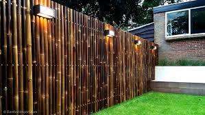 Attractive Bamboo Fence Panels Mandem Inspiration Decor