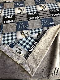 wild things are minky baby blanket
