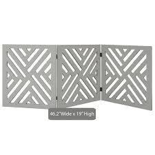 Shop Etna 3 Panel Lattice Design Wooden Pet Gate Freestanding Tri Fold Dog Fence For Doorways Stairs Indoor Outdoor Pet Barrier Overstock 28119199