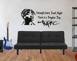 Tupac Decal Tupac Shakur Wall Decal Hip Hop Decal Rap Etsy