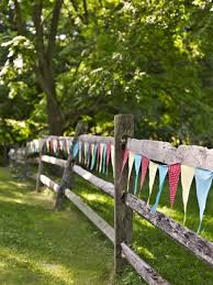 Bunting On A Fence Country Party Outdoor Party Decorations Country Birthday