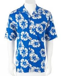 print mens beach wear hawaiian shirt