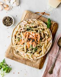 Salmon Pasta with Fried Capers ...