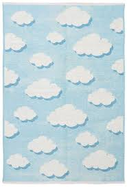 Double Sided Kids Room Rugs Blue White The Orient Bazaar