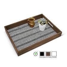 wooden stylish ottoman serving tray