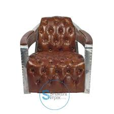 aviator leather club chair at o