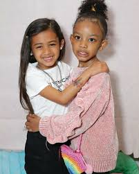 CHRIS BROWN AND MIKE WAYANS' DAUGHTERS HANG OUT AT CLAIRE'S CELEBRATION
