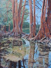 Boerne River Scene Painting by Vera Smith