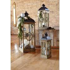 black natural lantern set of 3 64801