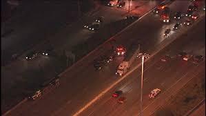 Traffic jam on Baytown East Freeway at ...