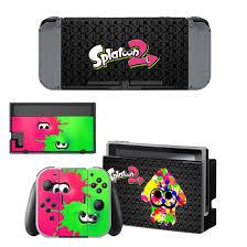 Splatoon Design Vinyl Decal For Nintendo Switch Console Sticker Skin Nintendo Switch Accessories Splatoon Nintendo Switch System