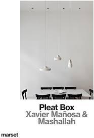 mt pleat box pendant light by