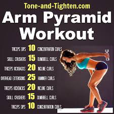 arm pyramid workout with weights tone