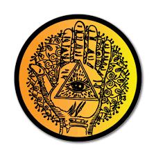 Henna Sunset Hand Of Fatima Hamsa Ink Eye Car Sticker Decal Ebay