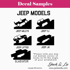Tyrannosaurus Rex And Jeep Decal Jack And Lu
