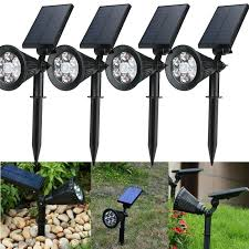 led solar garden lamp spot light